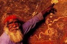An Aborigine at Uluru